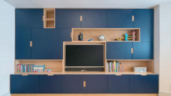 Kids Playroom TV Wall Unit