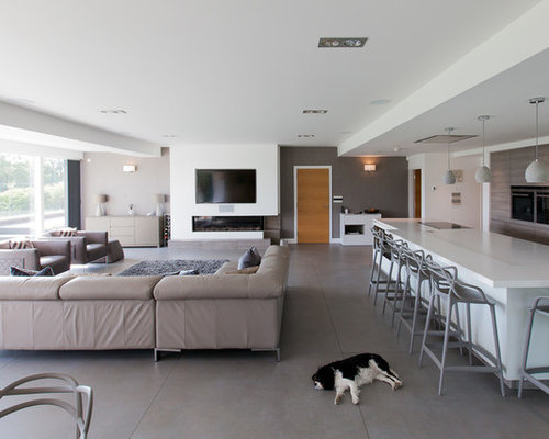 Contemporary Family And Games Room Design Ideas Renovations Photos - Modern games room