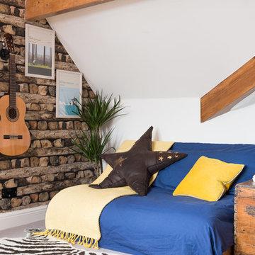 Log Pile Attic Bedroom
