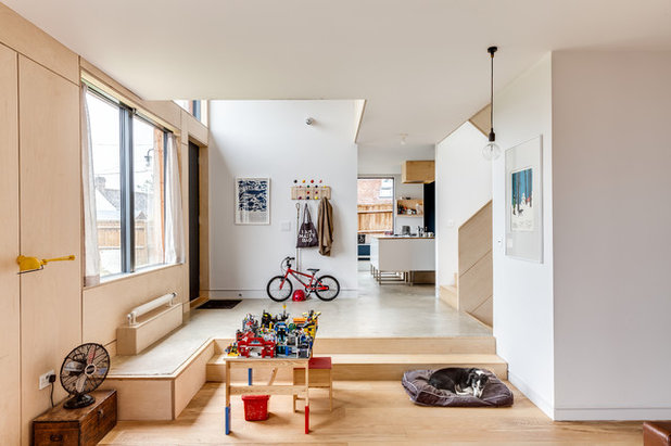 Scandinavian Family & Games Room by Mailen Design