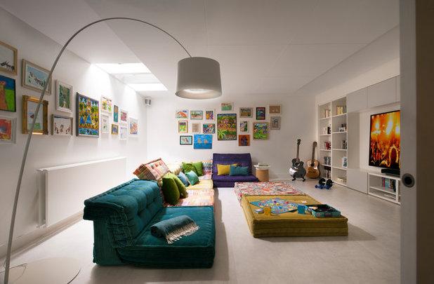 Contemporain Salle de Séjour by TG-Studio