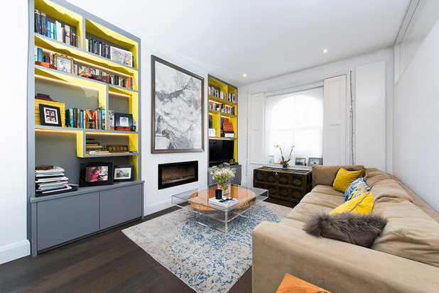 Contemporary Family Room by Kerry Hussain Interior Styling