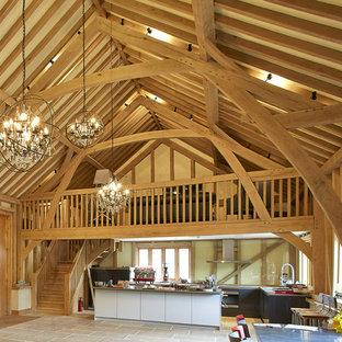 Oak framed barn with kitchen and mezzanine floor