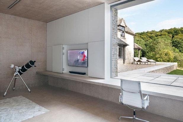 Modern Family Room by Found Associates