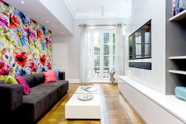 Contemporary Family Room by Primrose Interiors