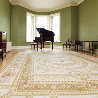 Shropshire country house music room Aubusson rug