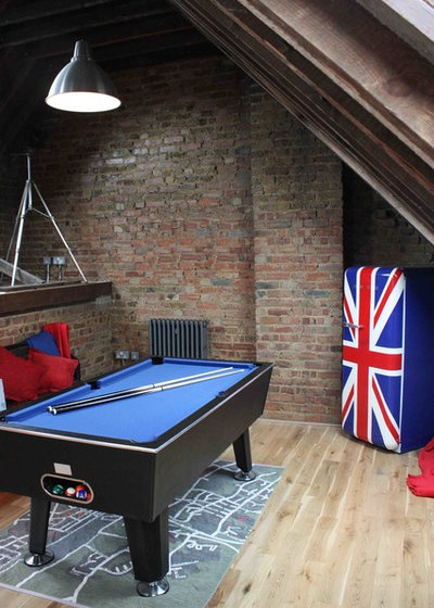 Industrial Family & Games Room by T-Space Design & Build