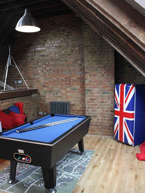 Room Design Online Games: Industrial Family Room Design Ideas, Remodels & Photos