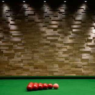 Wallure Wall Panels in a snooker room
