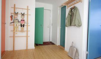 Farvesætning i nyrenoveret 60'erhus