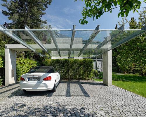 Carport Stuttgart mid sized contemporary carport design ideas renovations photos