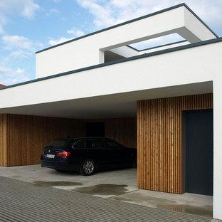 Moderne Anbaugarage in München
