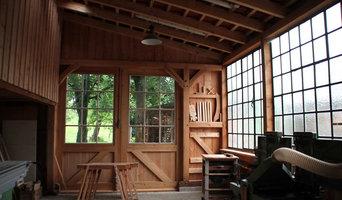 Fachwerk-Schuppen mit Holzwerkstatt