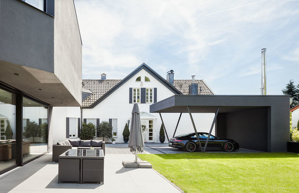 Contemporary Garage by ZHAC