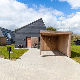 inspiration for a mid sized scandinavian detached one car carport remodel in esbjerg