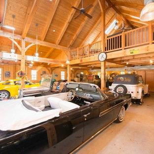 Inspiration for a huge timeless detached four-car carport remodel in Boston