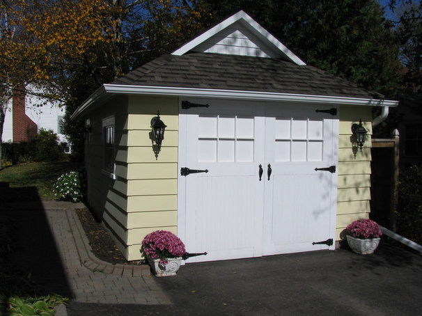 Craftsman Garage And Shed by Sandra Howie