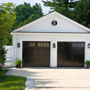 Example of a classic detached two-car garage design in DC Metro