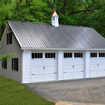 24'x36' 3 Car Detached Garage