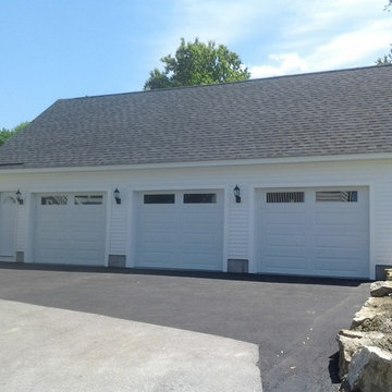 3 Bay Garage with loft and front entry door