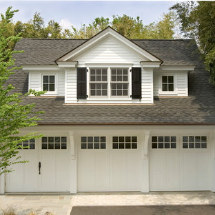 Example of a classic three-car garage design in Other