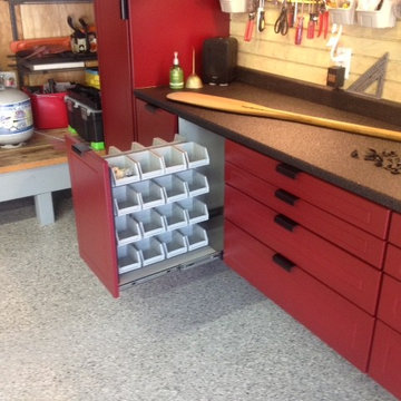 A Garage Interior Build Out / Hiding Mechanical Equipment in Your Garage