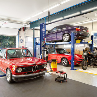 Inspiration for a contemporary garage workshop remodel in DC Metro