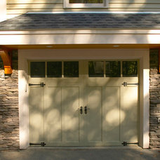 Craftsman Garage And Shed by Out of the Woods Construction & Cabinetry, Inc.