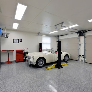 This is an example of a large industrial attached two-car workshop in Ottawa.