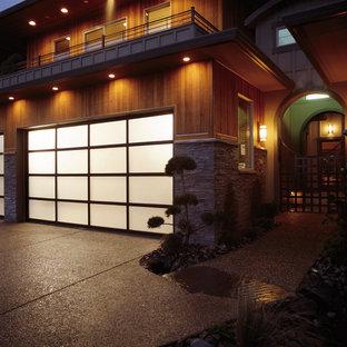 All glass Garage Door with Aluminum Frame