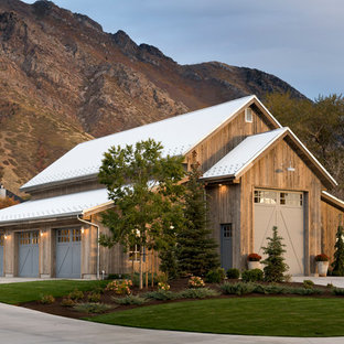 example of a country detached four car garage design in salt lake city - Detached Garage Designs