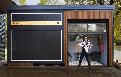 Arkansas Houzz Tour: A Violinist's Rocking Tiny House