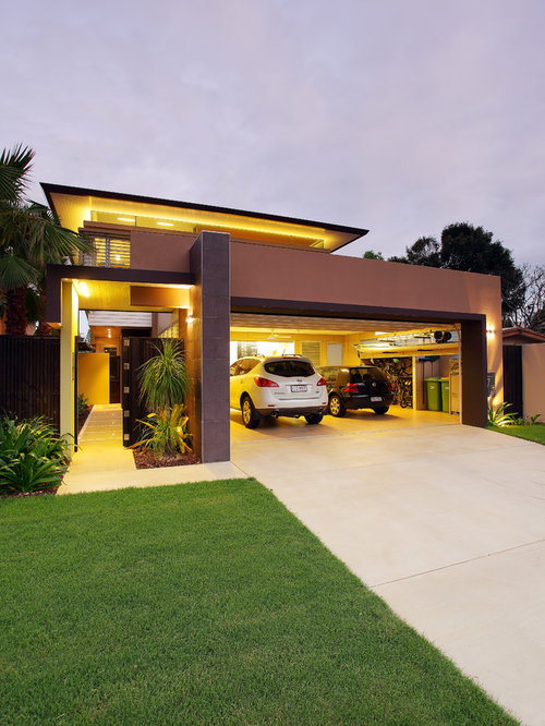 modern carport design ideas renovations photos. Black Bedroom Furniture Sets. Home Design Ideas