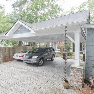 Example of a classic detached three-car carport design in Atlanta