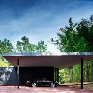 Freistehender Moderner Carport in New York