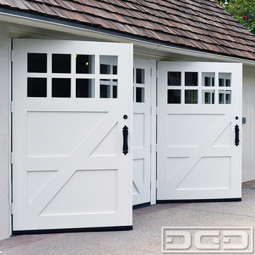 Authentic Quality, Real Swinging Carriage Doors for Garage Conversion