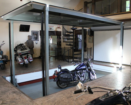 Motorcycle home design ideas pictures remodel and decor for Motorcycle decorations home