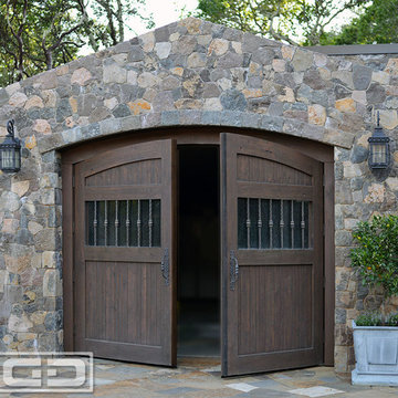 Automatic Out-Swing Carriage Doors in an Authentic Tuscan Design