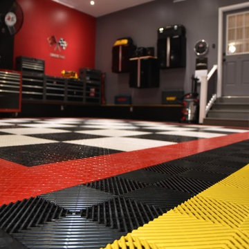 Awesome Home Garage Makeover with RaceDeck® Garage flooring