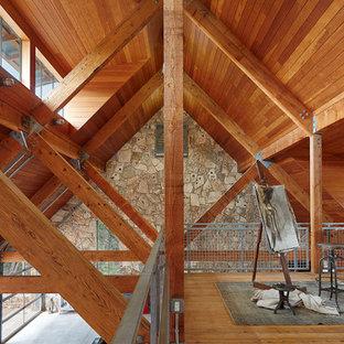Inspiration for a huge detached garage workshop remodel in Austin