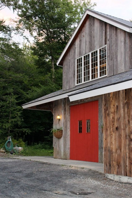 Farmhouse Garage And Shed by Dufour Design LLC