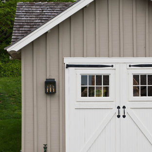 Example of a country garage design in Philadelphia