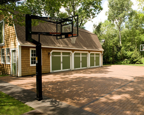 Backyard Sport Court Ideas this half court is a great space to practice shots it is particularly useful for Saveemail