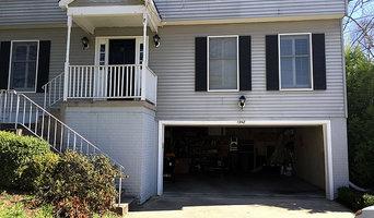 Bent garage door panel fix - Herndon VA