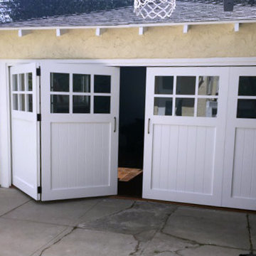 Bi-fold Carriage Doors with Marine Composite - Los Angeles, CA