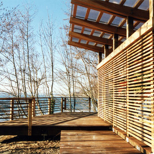 Inspiration for a contemporary boathouse in Seattle.