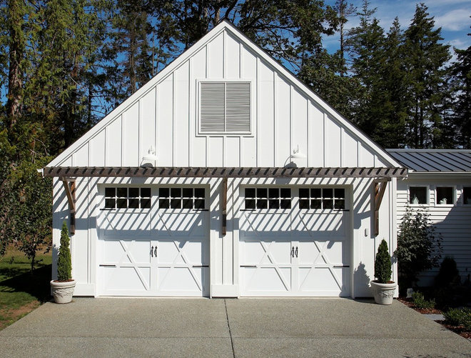eclectic garage and shed by Dan Nelson, Designs Northwest Architects