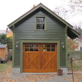 Idée de décoration pour un petit garage séparé craftsman.