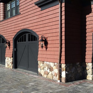 This is an example of a transitional garage in Boston.