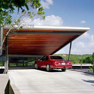 Idéer för att renovera en stor funkis tillbyggd tvåbils carport